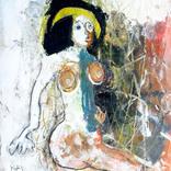 絵:「月と女」ギャラリーに追加しました。