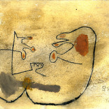 絵:「足を広げている猿」ギャラリーに追加しました。