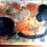 絵:「夕焼けと鳥と木」ギャラリーに追加しました。
