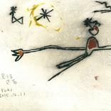 絵:「星を見てる猿」ギャラリーに追加しました。