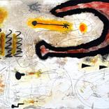 絵:「朝日、影、生き物たち」ギャラリーに追加しました。