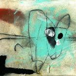 絵:「猫、青」ギャラリーに追加しました。