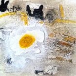 絵:「朝日、影、生き物たち④」ギャラリーに追加しました。