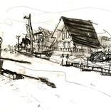 スケッチ:「素描・かたぎさんのログハウス」ギャラリーに追加しました。
