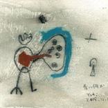 絵:「青いやつ」15点ギャラリーに追加しました。