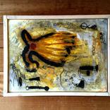 絵:「朝日、影、生き物たち⑧」ギャラリーに追加しました。