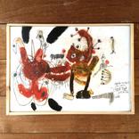 絵:「猫、わしづかみ、5」ギャラリーに追加しました。