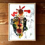 絵:「太陽、人、2」ギャラリーに追加しました。