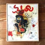 絵:「太陽、人、3」ギャラリーに追加しました。