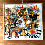 絵:「太陽、人、7」ギャラリーに追加しました。