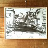 スケッチ:「建物と道」ギャラリーに追加しました。