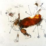 絵:「猫、しっぽ、11」ギャラリーに追加しました。