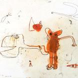 絵:「猫、しっぽ、12」ギャラリーに追加しました。
