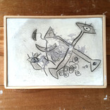 絵:「三角たちの行進、2」ギャラリーに追加しました。