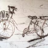スケッチ:「自転車と朝」他1点出品しました。