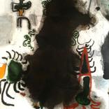 もんじゃの川庭さんに展示させて頂いている絵を交換しました。