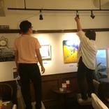 みらい畑14回目展示会「詩と絵」の設営をしてきました。