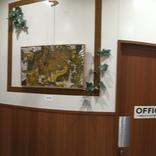 ファミリーマート安比奈親水公園前店さんに飾らせて頂いている絵を入れ替えました。